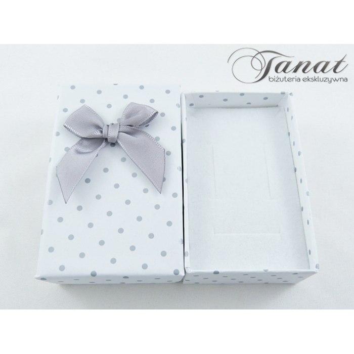 Pudełko 5x8x2,8 cm - białe w kropki