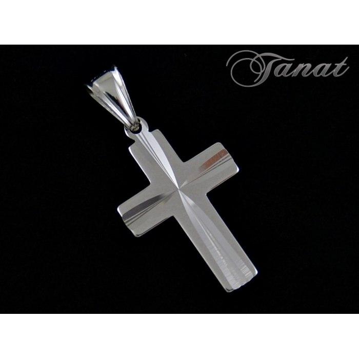 Duży, srebrny krzyż DEW-6