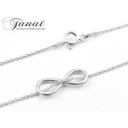 Infinity - srebrny naszyjnik celebrytka.