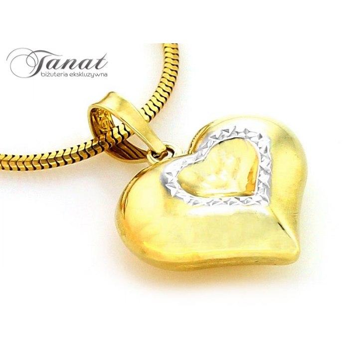 Złote 0,333 dmuchane serce