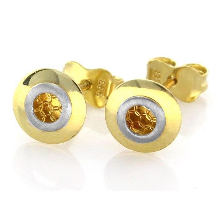 Złote 0,333 nowoczesne kolczyki