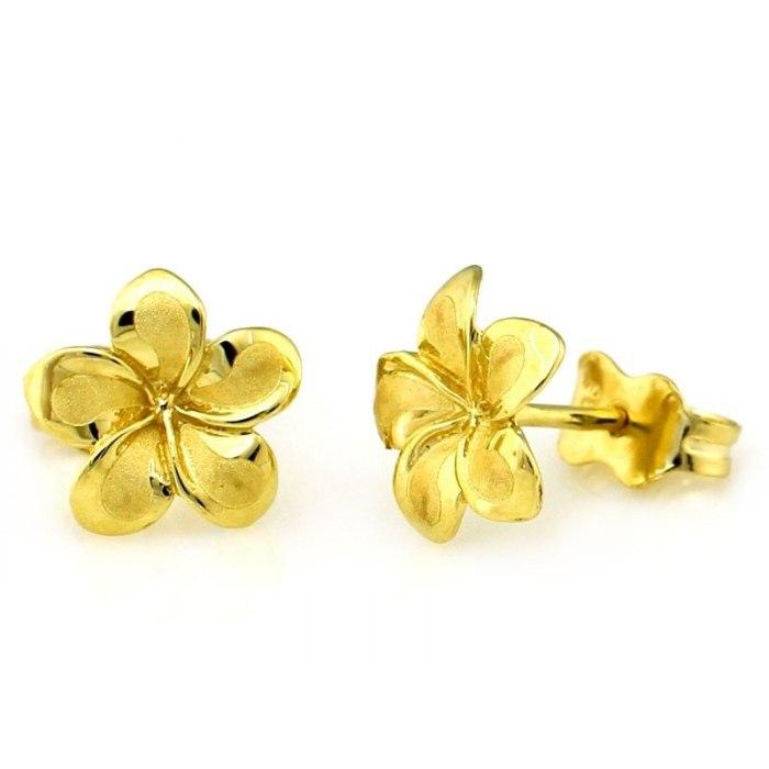 Złote 0,333 kolczyki kwiatuszki
