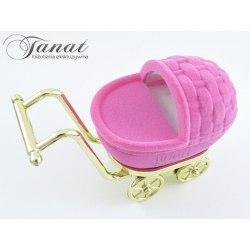Welurowy wózek - różowy