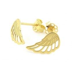 Pozłacane kolczyki skrzydła
