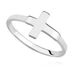 Prosty pierścionek krzyż