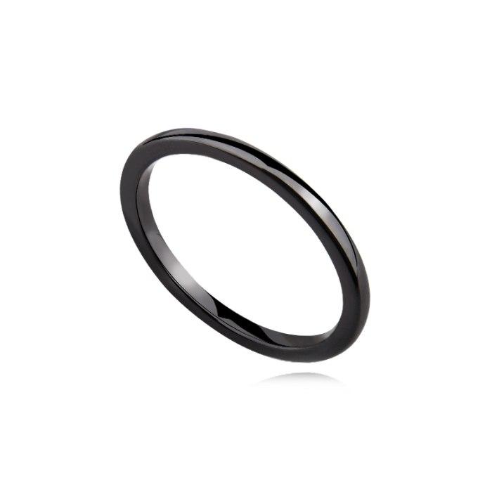 Czarna ceramiczna obrączka 2mm