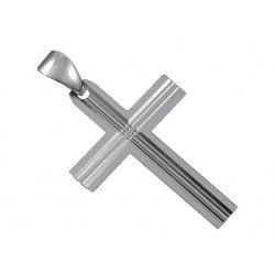 Duży, srebrny krzyż DEW-12