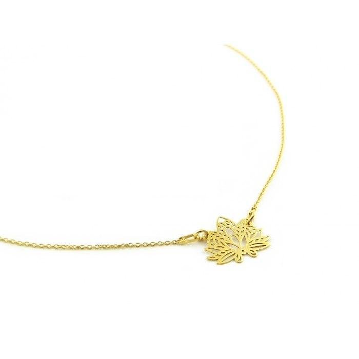 Pozłacany naszyjnik kwiat lotosu