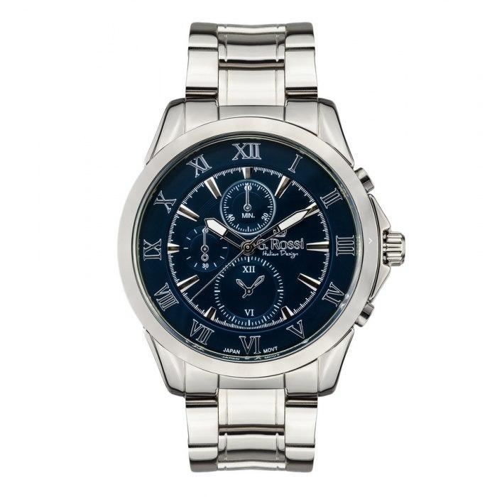 G.Rossi - silver/navy blue 3844B