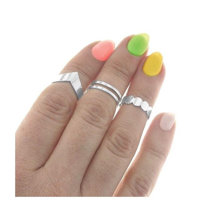 Srebrny pierścionek knuckle ring