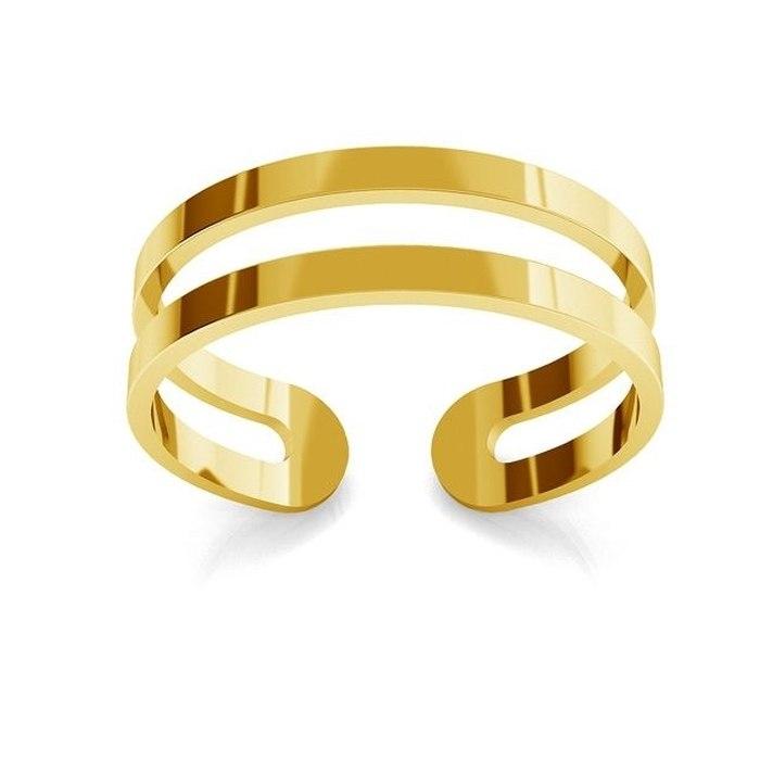 Pozłacany pierścionek knuckle ring