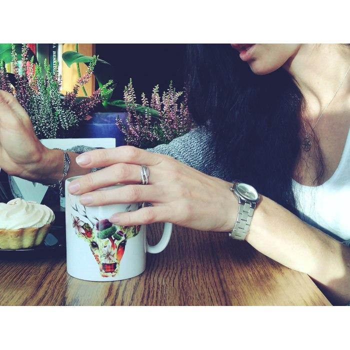 Srebrny pierścionek cyrkonie