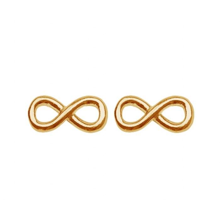 Pozłacane kolczyki infinity