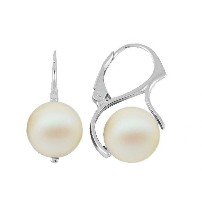 Perły Swarovski 2x10 mm Pearlescent white