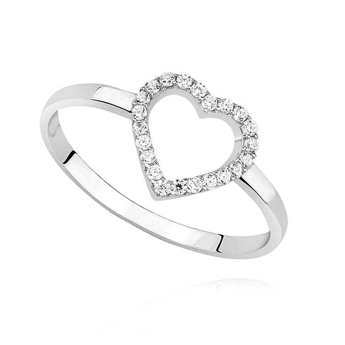 Srebrny pierścionek serce