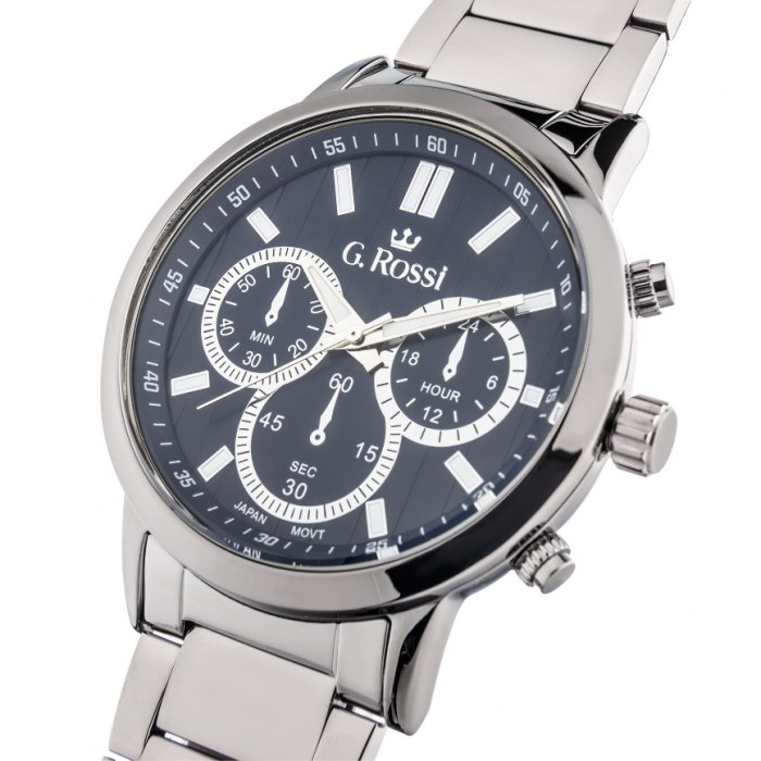G.Rossi - silver/navy blue 10762B