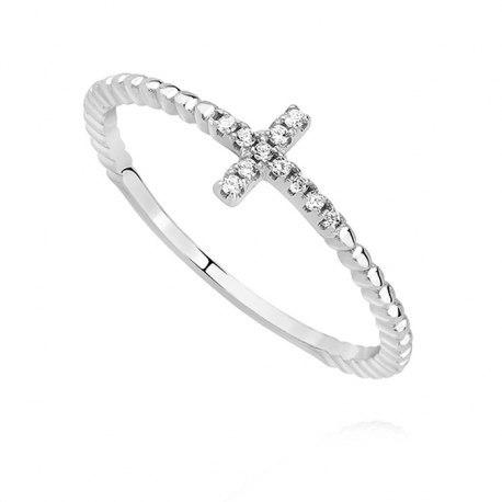 Srebrny pierścionek KRZYŻ