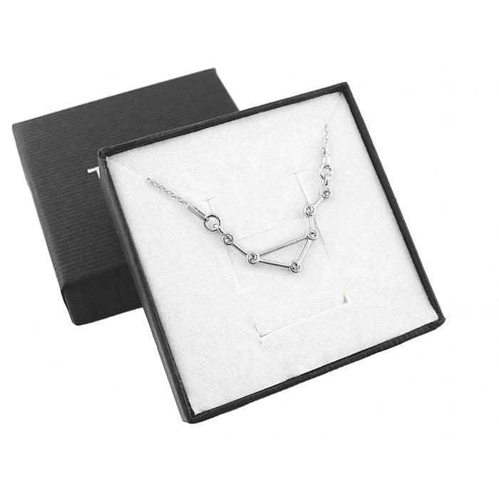 Srebrny naszyjnik znak zodiaku konstelacja waga