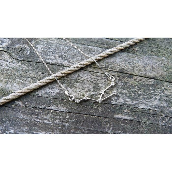 Srebrny naszyjnik znak zodiaku konstelacja byk