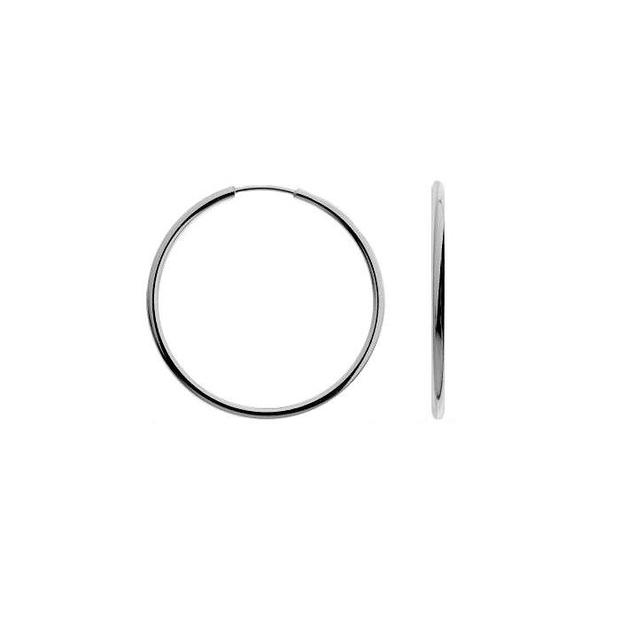 Srebrne kolczyki koła 3 cm grube 2 mm