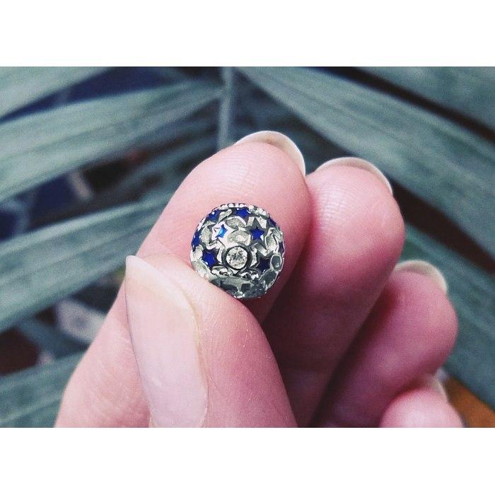 Srebrny koralik gwiazdy charms modułowa Beads