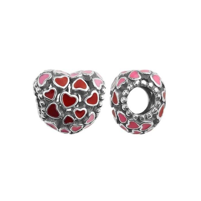 Srebrny koralik serce charms modułowa Beads
