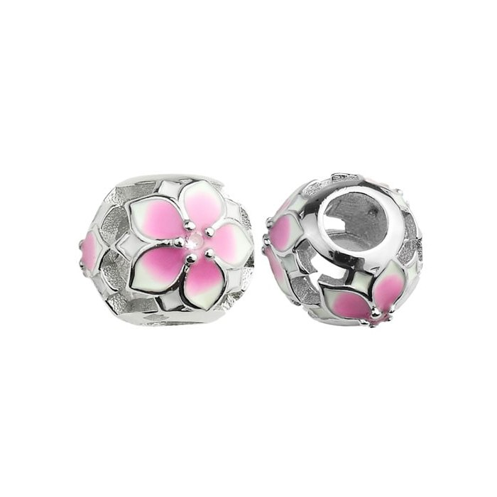 Srebrny koralik kwiaty charms modułowa Beads
