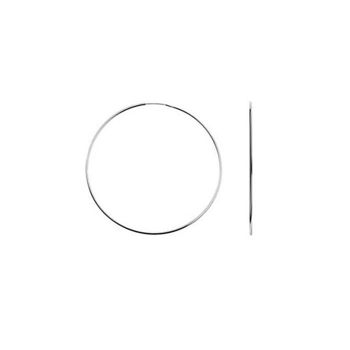 Srebrne kolczyki koła 4,5 cm