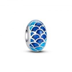 Srebrny koralik syreni ogon przekładka modułowa Beads