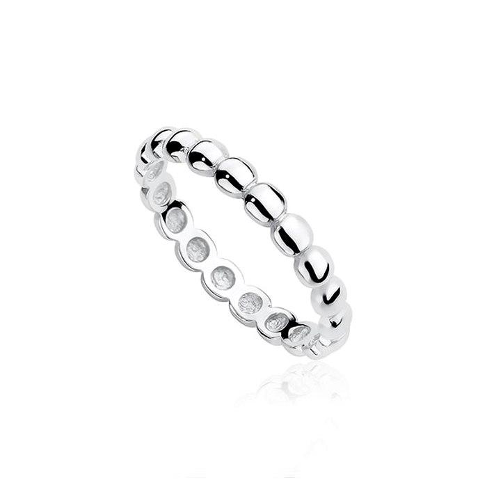 Srebny pierścionek obrączka kółka
