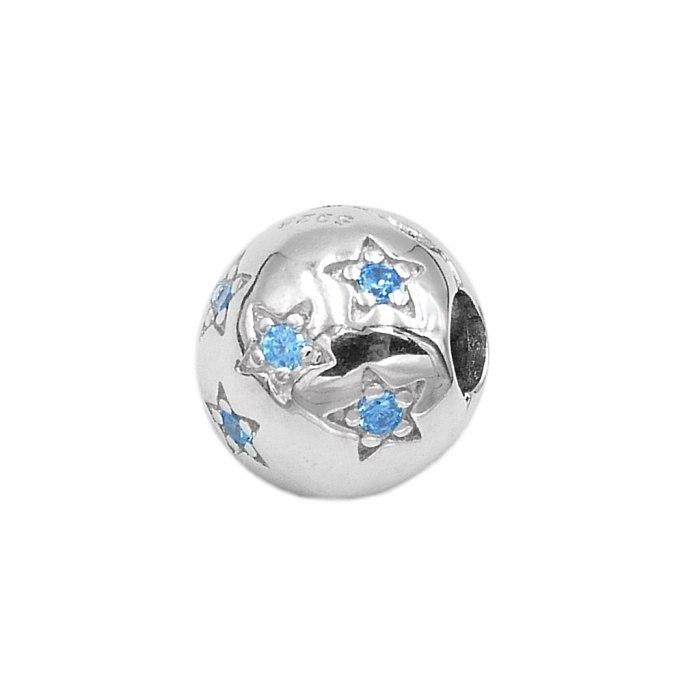 Srebrny koralik modułowy gwiazdki Beads