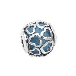 Srebrny koralik modułowy Beads serca