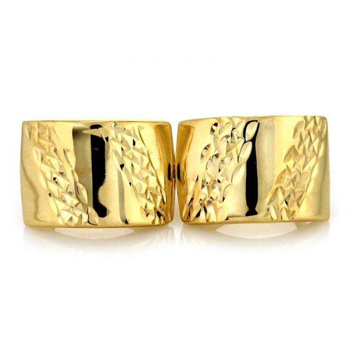 Solidne diamentowane złote 333 kolczyki + pudełko