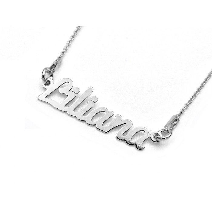 Srebrny naszyjnik imię Liliana + pudełko