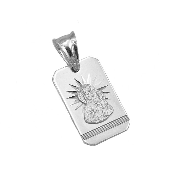Srebrny medalik z Matką Boską DEW-102