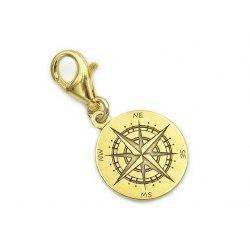 Pozłacany charms zawieszka kompas