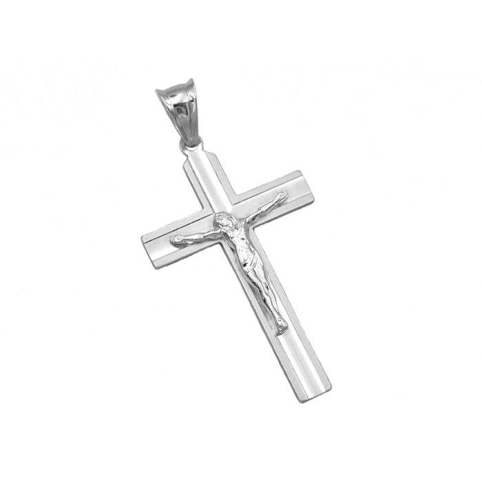 Srebrny krzyż z Jezusem DEW-103