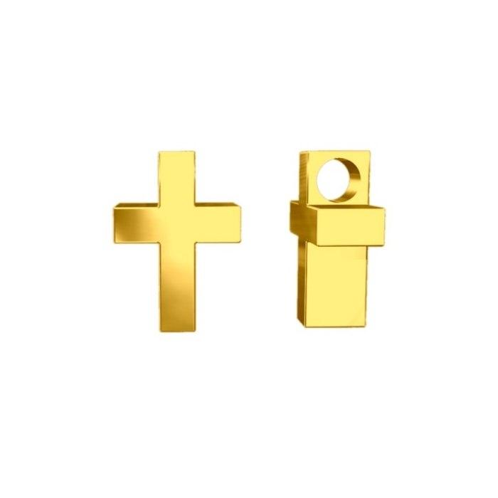Pozłacany wisiorek krzyż 3D