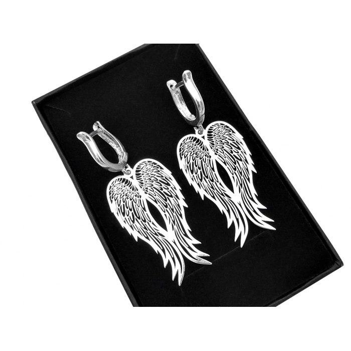 Srebrne ażurowe skrzydła anioła + pudełko