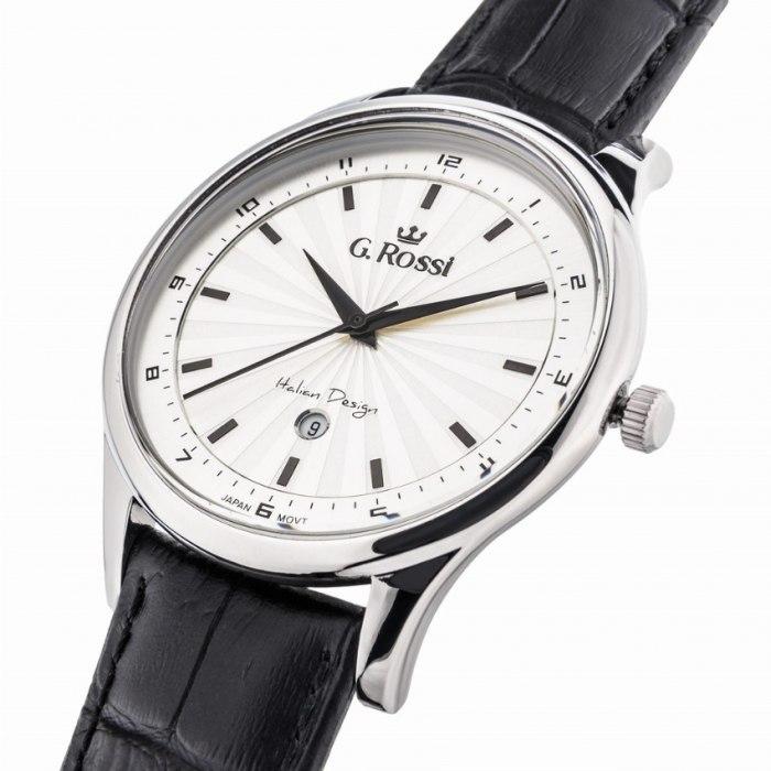 Zegarek G.Rossi - silver/black 10212A - 3A1