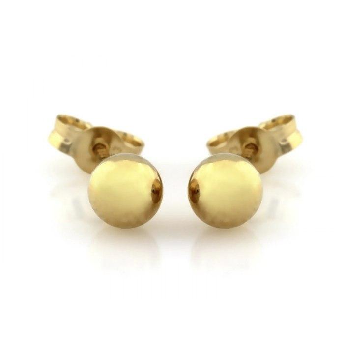 Złote kolczyki kule kuleczki kulki 4 mm