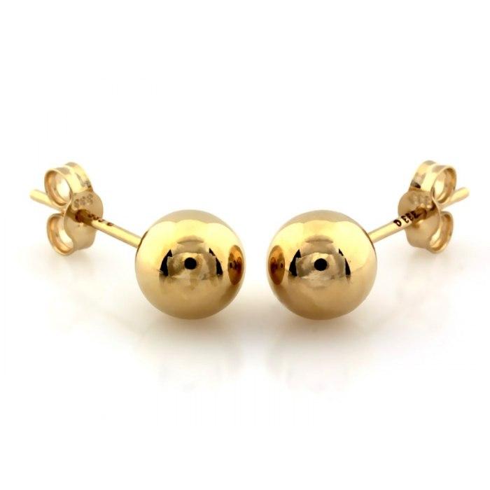Złote kolczyki kule kuleczki kulki 6 mm