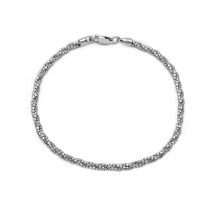 Srebrna pleciona bransoletka cord