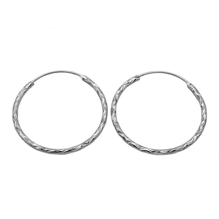 Srebrne kolczyki diamentowane koła 3 cm