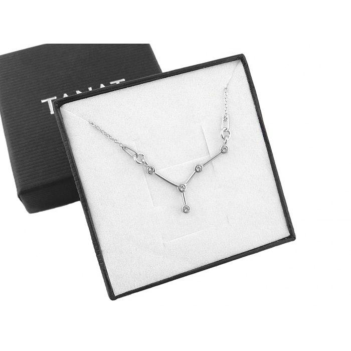 Srebrny naszyjnik znak zodiaku konstelacja rak