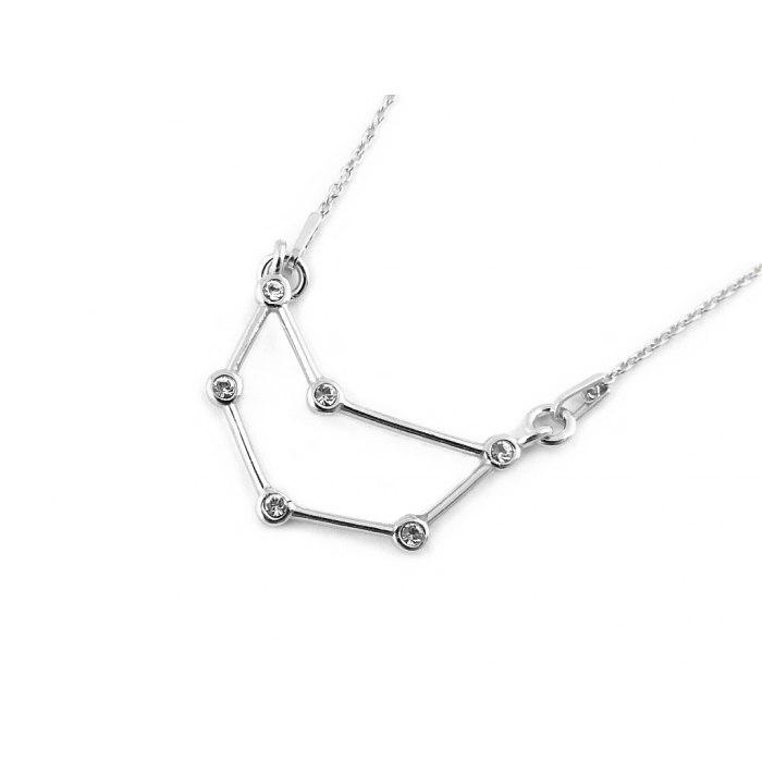 Srebrny naszyjnik znak zodiaku konstelacja koziorożec