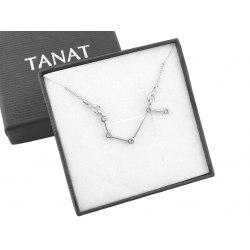 Srebrny naszyjnik znak zodiaku konstelacja baran