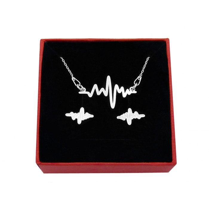 Srebrny komplet puls + pudełko