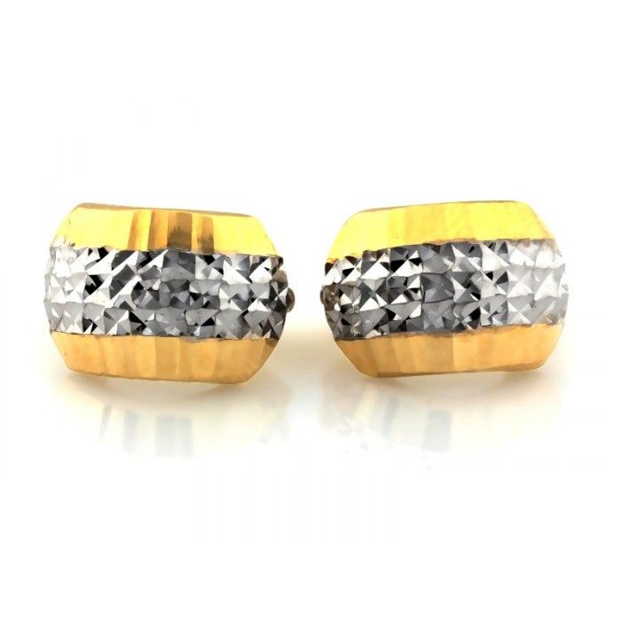 Złote 585 diamentowane kolczyki