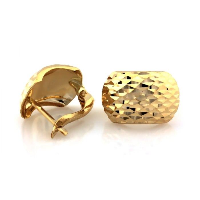 Złote 585 diamentowane kolczyki 2